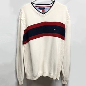 Vintage Tommy Hilfiger Ivory Striped Sweater